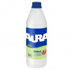 AURA Unigrund BioBlock укрепляющий антиплесневый грунт 1л.