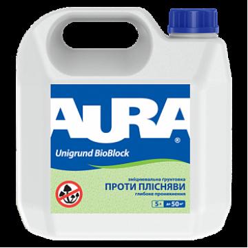 AURA Unigrund BioBlock укрепляющий антиплесневый грунт 5л.