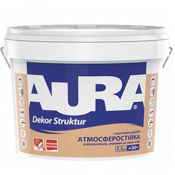Aura Dekor Struktur структурная краска для фасадов и интерьеров 2,5л.