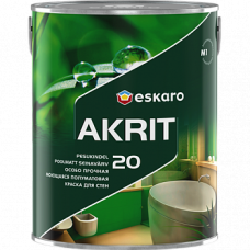 Eskaro Akrit 20 краска для ванной, кухни, влажных помещений 0,95 л.