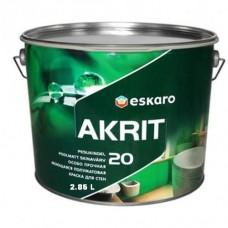 Eskaro Akrit 20 краска для ванной, кухни, влажных помещений 2,85 л.