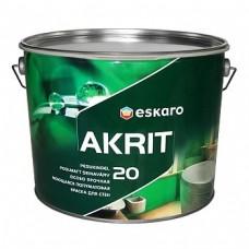 Eskaro Akrit 20 краска для ванной, кухни, влажных помещений 9,5 л.
