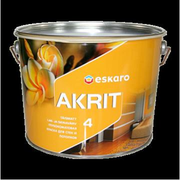 Eskaro Akrit 4 краска для потолков и стен (глубокоматовая) 9,5 л.