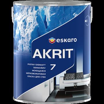 Eskaro Akrit 7 краска для потолков и стен (матовая) 0,95 л.