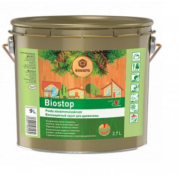 Aura Biostop биозащитный грунт для древесины 9л.