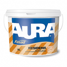 Aura Fasad Residens фасадная краска модифицированная силоксаном 2,7л.