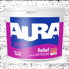 Aura Dekor Relief Структурная краска для фасадов и интерьеров 2,25 л.