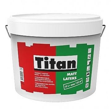 Titan Mattlatex моющаяся краска для потолков и стен (матовая) 5л.